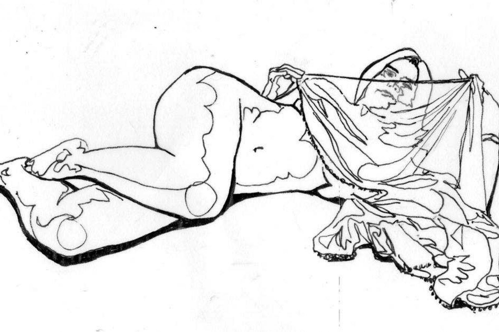 Life Drawing Of A Belly Dancer