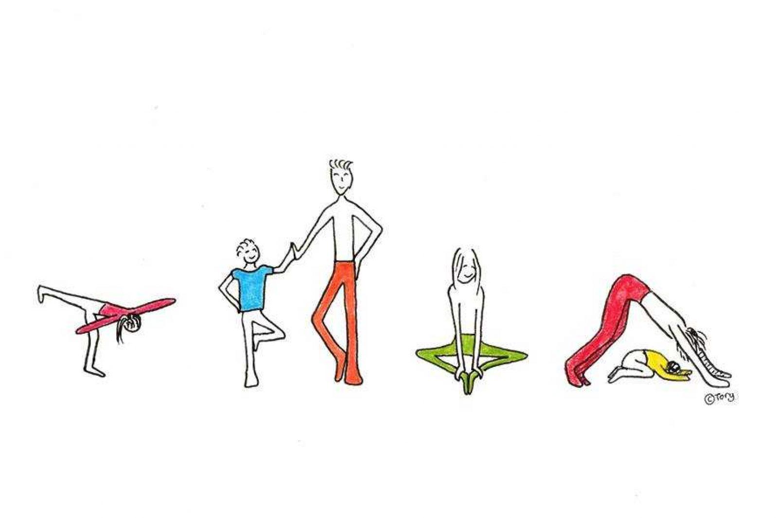 Kids Yoga Drawing Asd