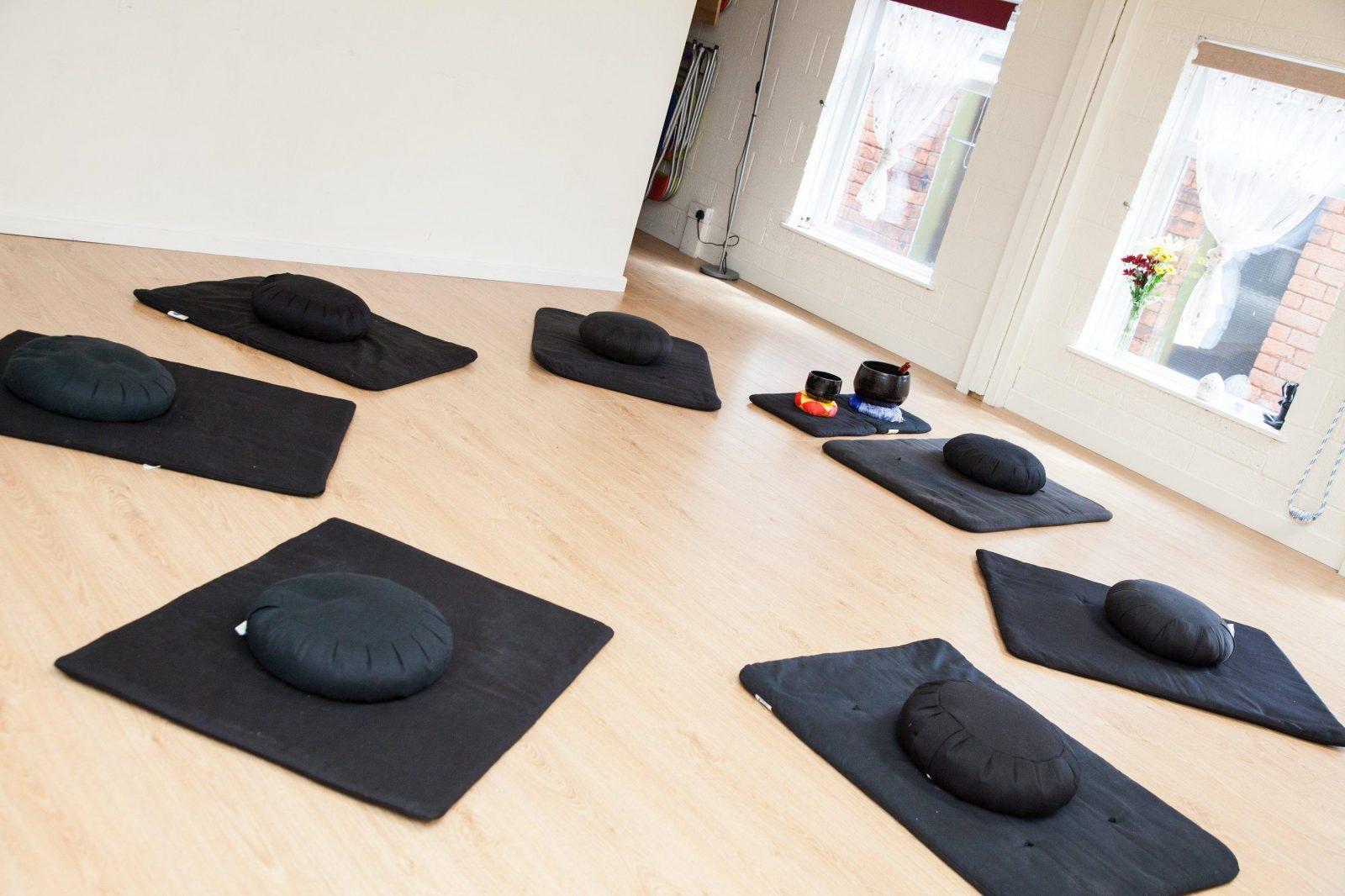 Meditation Mats In Circle